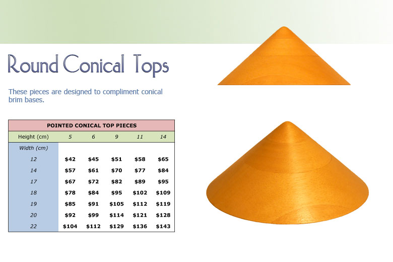 Round Conical Tops 2